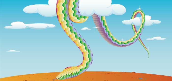 Mitologia Australiana Serpiente Arcoiris