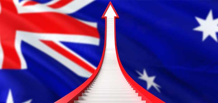 Economía australiana crece