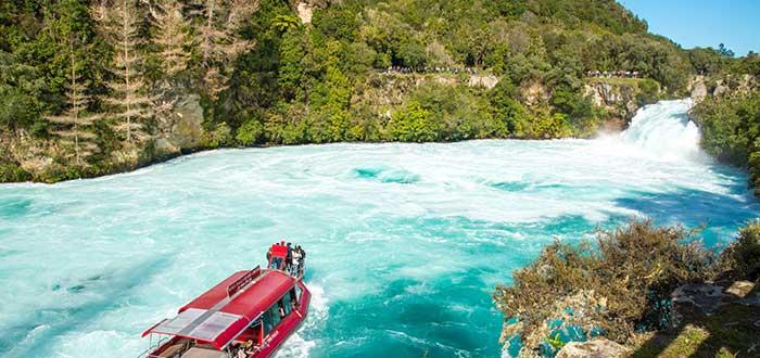 Que ver en Nueva Zelanda, Cataratas de Huka