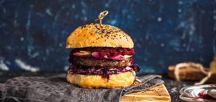 Comida tipica de Australia, hamburguesa de remolacha