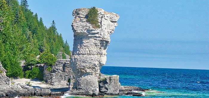 Parque Nacional Bruce Peninsula Flowerpot Island