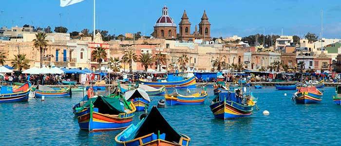 Marsaxlokk, la ciudad de los pescadores en Malta