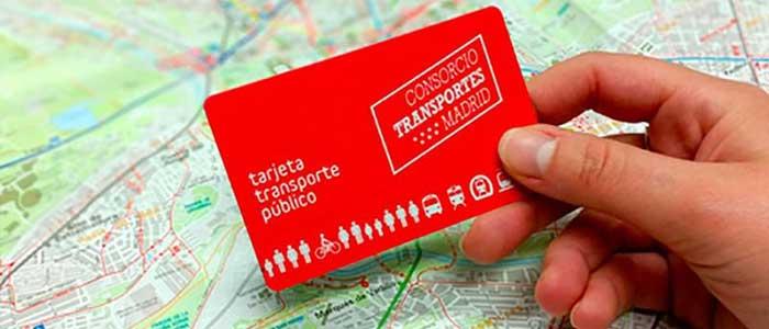 Tarjetas transporte público Madrid