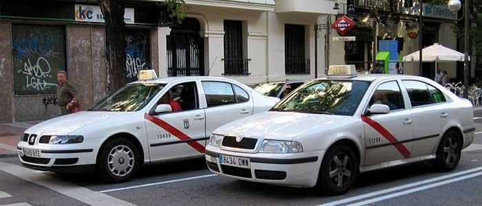 Taxis en Madrid, parte del Transporte Público de Madrid