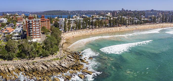 Manly Beach dónde estudiar inglés en Australia