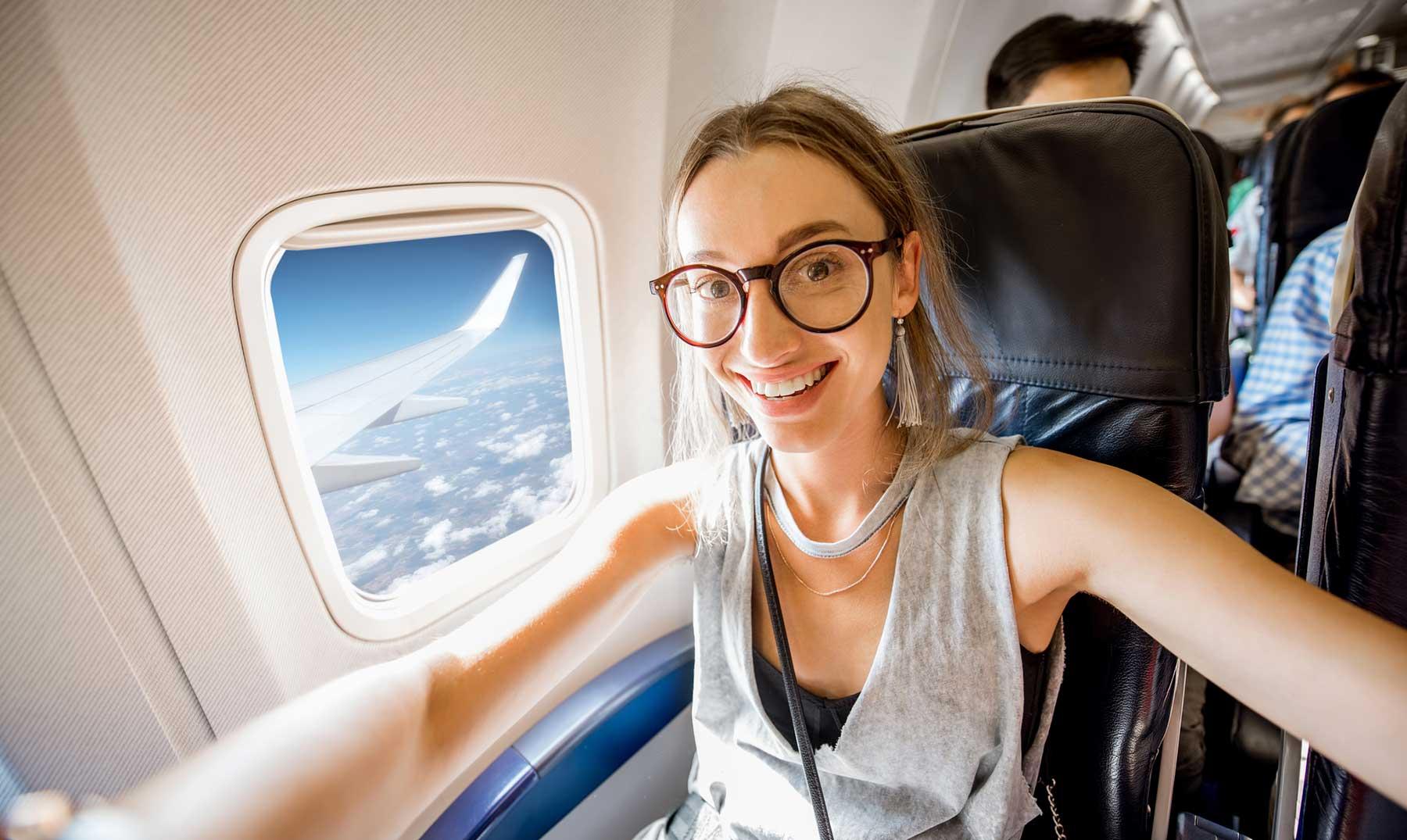 Viajar en avión por primera vez
